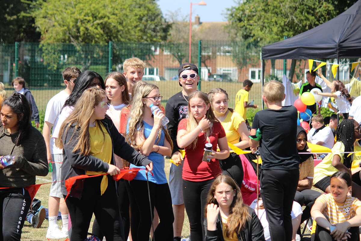 Turing Students on Sports Day at Lord Grey Academy