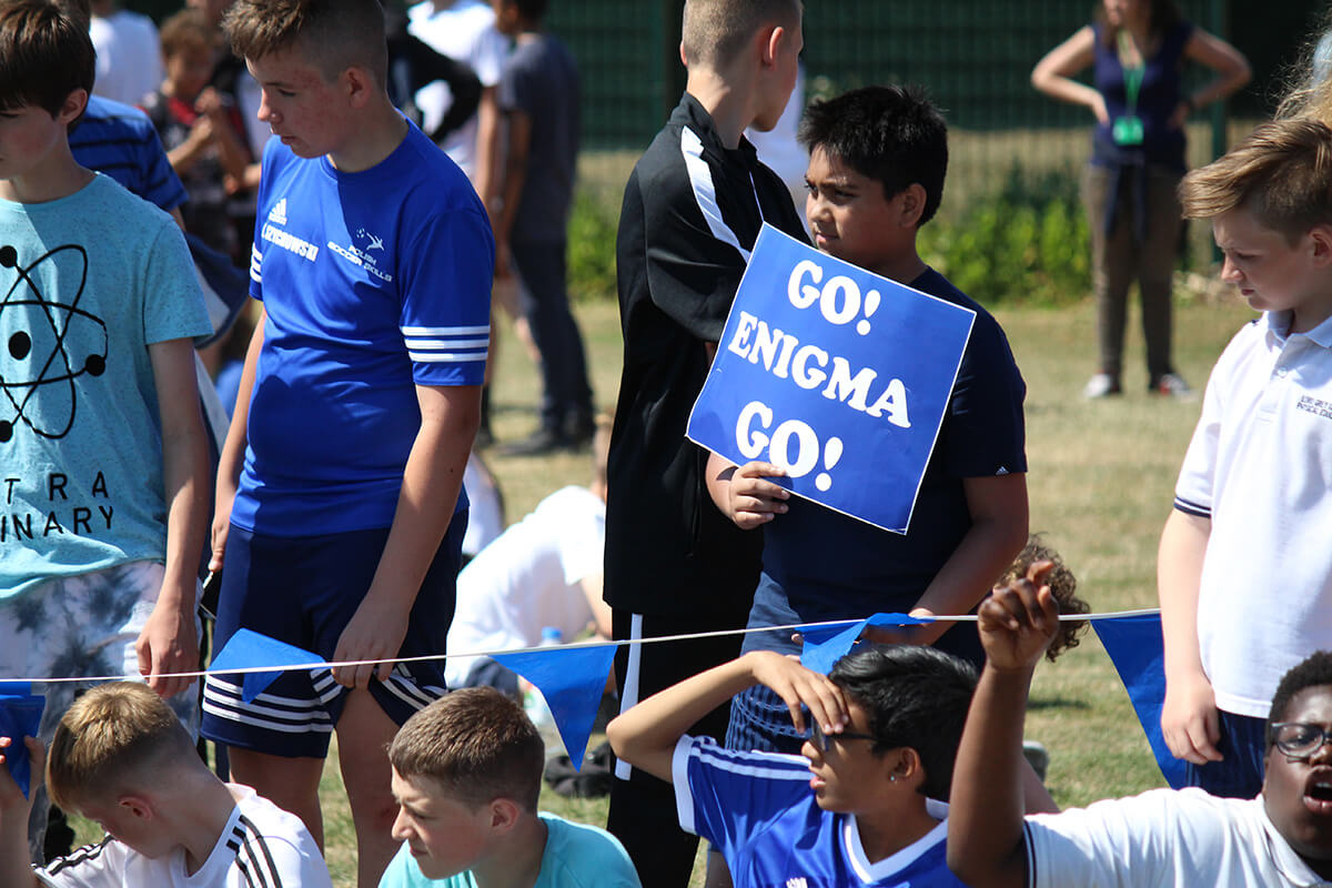 Enigma Students on Sports Day at Lord Grey Academy