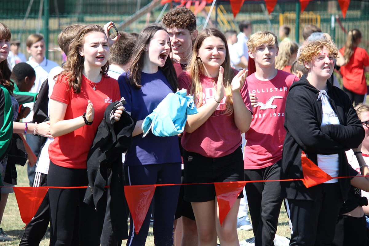 Lorenz Students on Sports Day at Lord Grey Academy