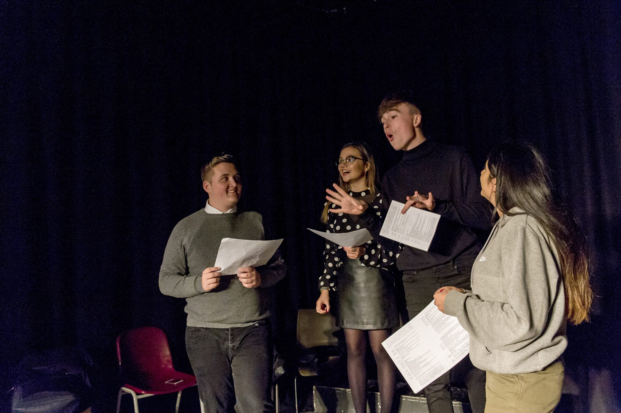 Sixth Form Students in a Drama Lesson at Lord Grey Academy