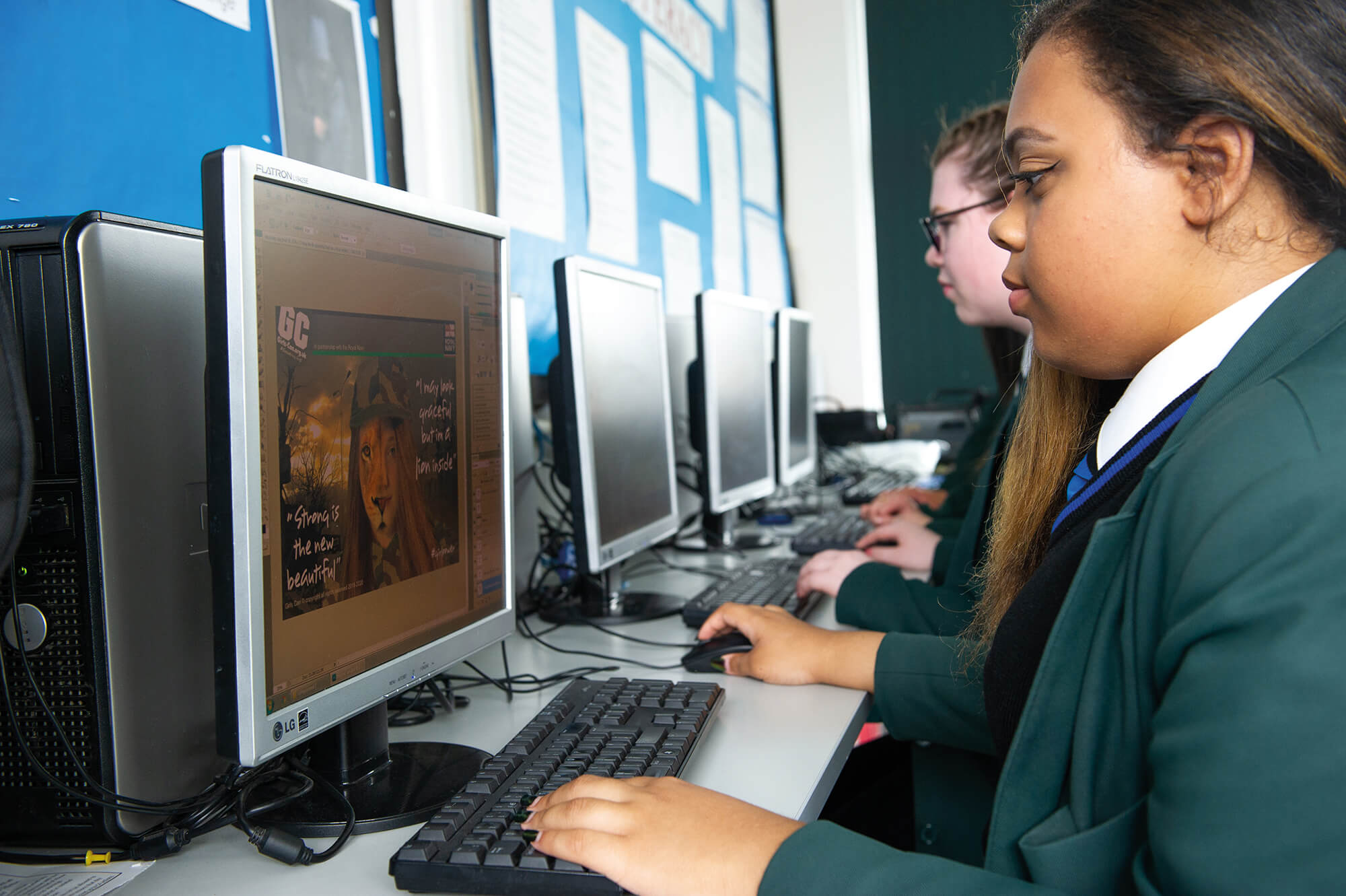 Students working on Graphic Design at Lord Grey Academy