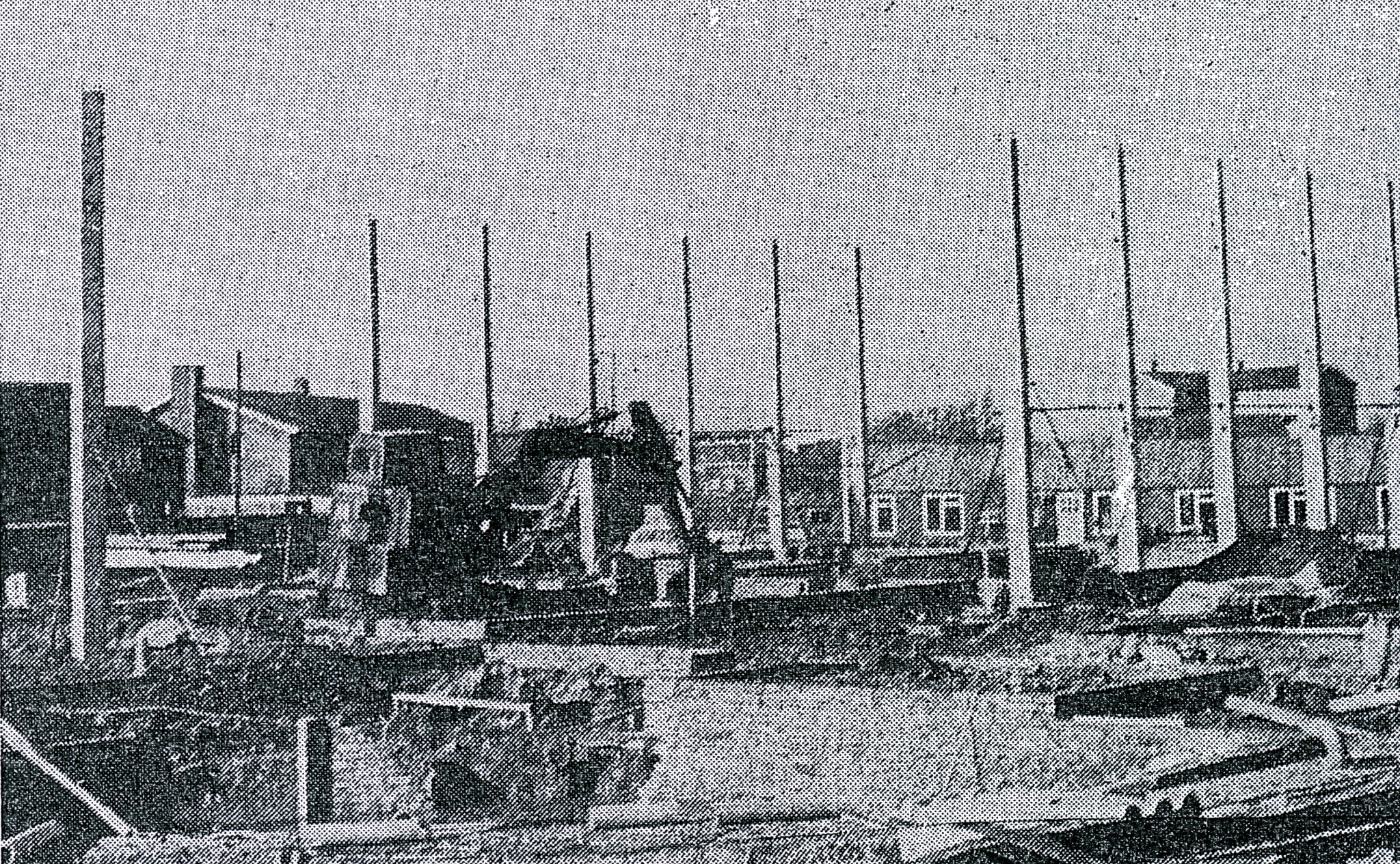 Lord Grey Academy in 1973 under construction